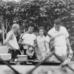 Four People at the Barbecue, Bay Ridge, Brooklyn, NY