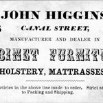 Business Card, John Higgins, 166 Canal Street