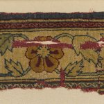Border Fragment of a Pashmina Carpet with Pattern of Lattice and Blossoms