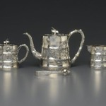 Sugar Bowl and Cover, Part of Tea Set for Export