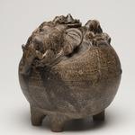 Lidded Jar in the Form of an Elephant