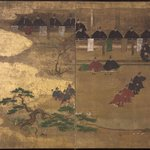 Fragment of Nenju Gyoji Screen
