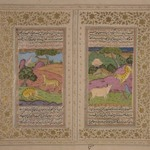 Miniature Painting from a Dispersed Kalila wa Dimna Manuscript