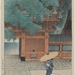 Early Summer Rain at the Sanno Shrine, from the series Twelve Scenes of Tokyo