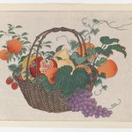 Bamboo Basket with Fruit