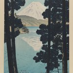 Mount Fuji from Lake Ashinoko at Hakone
