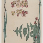 Bamboo Leaves, Pine Needles, and Plum Blossoms, from the series Comparison of Flowers