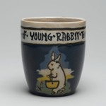 "Mug, ""It is the Habit of Young Rabbit to go to School"""