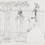[Untitled] (Clown and Fence)