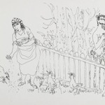 [Untitled] (Satyr by Fence (Woman and Satyr))