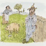 [Untitled] (Farmer, Pig, Wife)