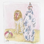 [Untitled] (Pink Clown; Lion)