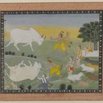 Krishna Defeating the Bull Demon