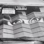 [Untitled] (Eye, Windshield, License Plates)