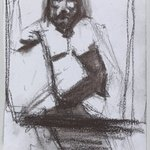 Untitled (Seated Pose) from Iggy Pop Life Class by Jeremy Deller