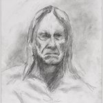 Untitled (Seated Pose, Detail of Face) from Iggy Pop Life Class by Jeremy Deller