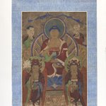 Painting of the Yong San Assembly: Shakyamuni Buddha with Manjushri, Samantabhadra, and Two Arhats