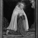 Monk in Prayer with White Robe