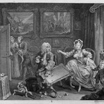 "Quarrels with Her Protector, from ""A Harlots Progress"""