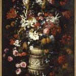 Flowers in a Figured Vase