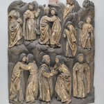 Altar Piece Relief of Jesus and Apostles