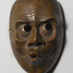 Mask Possibly of Usofuki, Character in Kyogen Plays