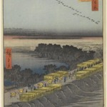 Nihon Embankment, Yoshiwara, No. 100 from One Hundred Famous Views of Edo