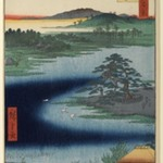 Robe-Hanging Pine, Senzoku Pond, No. 110 from One Hundred Famous Views of Edo
