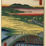 Sugatami Bridge, Omokage Bridge, and Jariba at Takata, No. 116 from One Hundred Famous Views of Edo