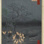New Years Eve Foxfires at the Changing Tree, Oji, No. 118 from One Hundred Famous Views of Edo