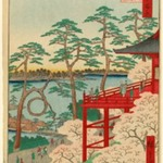 Kiyomizu Hall and Shinobazu Pond at Ueno, No. 11 in One Hundred Famous Views of Edo