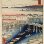 Nihonbashi, Clearing After Snow, No. 1 in One Hundred Famous Views of Edo