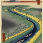 Towboats Along the Yotsugi-dori Canal, No. 33 in One Hundred Famous Views of Edo