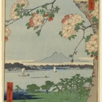 Suijin Shrine and Massaki on the Sumida River (Sumidagawa Suijin no Mori Massaki), No. 35 from One Hundred Famous Views of Edo
