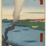 Tile Kilns and Hashiba Ferry, Sumida River (Sumidagawa Hashiba no Watashi Kawaragawa), No. 37 from One Hundred Famous Views of Edo