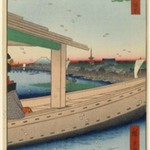 Distant View of Kinryuzan Temple and Azuma Bridge (Azumabashi Kinryuzan Enbo), No. 39 from One Hundred Famous Views of Edo