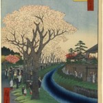 Blossoms on the Tama River Embankment, No. 42 in One Hundred Famous Views of Edo