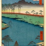 Kumano Junisha Shrine, Tsunohazu, No. 50 in One Hundred Famous Views of Edo