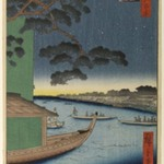 Pine of Success and Oumayagashi, Asakusa River, No. 61 from One Hundred Famous Views of Edo