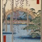 Inside Kameido Tenjin Shrine (Kameido Tenjin Keidai), No. 65 from One Hundred Famous Views of Edo