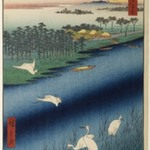 Sakasai Ferry, No. 67 from One Hundred Famous Views of Edo