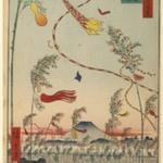 The City Flourishing, Tanabata Festival, No. 73 from One Hundred Famous Views of Edo