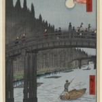 Bamboo Yards, Kyobashi Bridge, No. 76 from One Hundred Famous Views of Edo