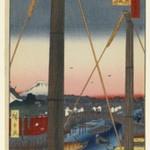 Inari Bridge and Minato Shrine, Teppozu, No. 77 from One Hundred Famous Views of Edo