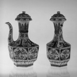 Pair of Hexagonal Shaped Ewers