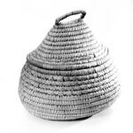 Oval and Cone Shaped Basket with Cover
