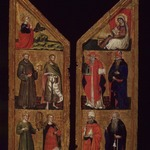 Two Wings of a Triptych: Angel Annunciate with Saints Francis, John the Baptist, Catherine of Alexandria and Mary Magdalene (Left Wing); Virgin Annunciate with Saints Jerome, Augustine, Gregory and Anthony Abbot