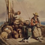 Two Figures on a Boat
