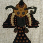Textile Fragment Mounted on Modern Fabric
