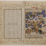 Sikandar Attends the Dying Dara, Folio from a Manuscript of the Khamsa of Nizami